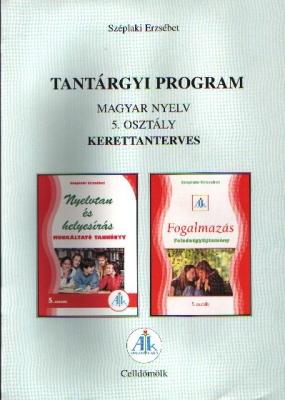 Tantárgyi program a Magyar Nyelv 5. o.