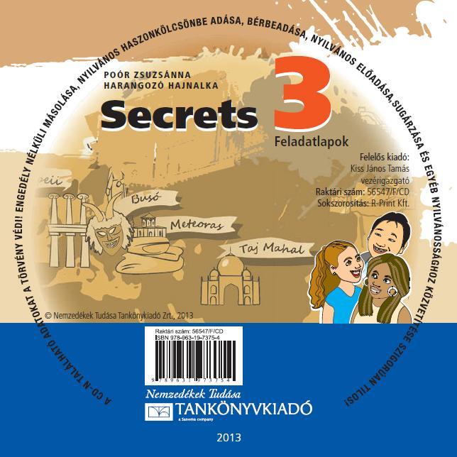 Secrets 3. feladatlapok CD-N