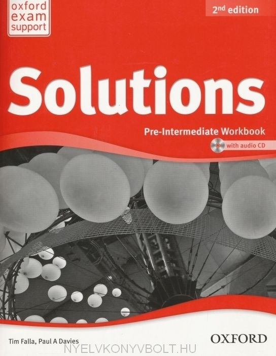 Solutions Pre-Intermediate 2nd edition Munkafüzet + audio CD