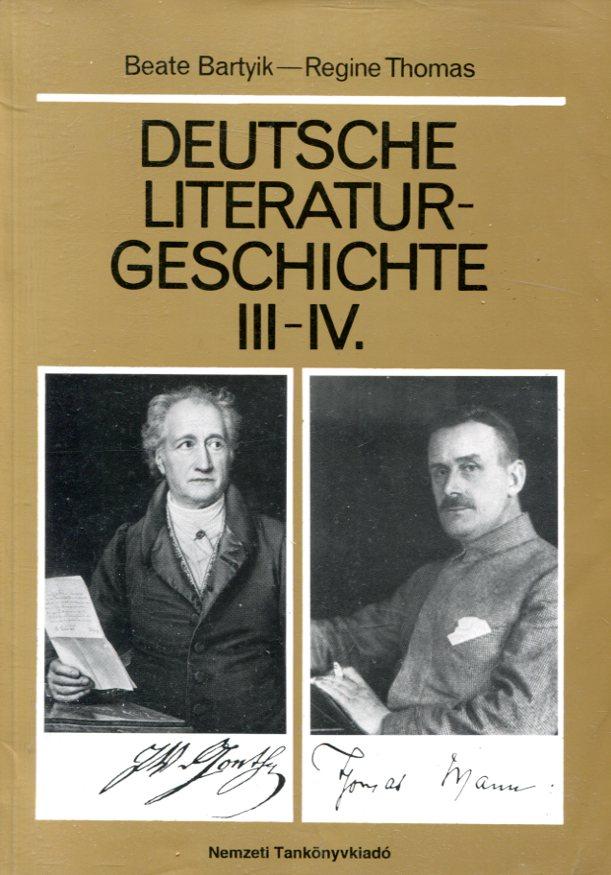 Deutsche Literaturgeschichte III- IV.