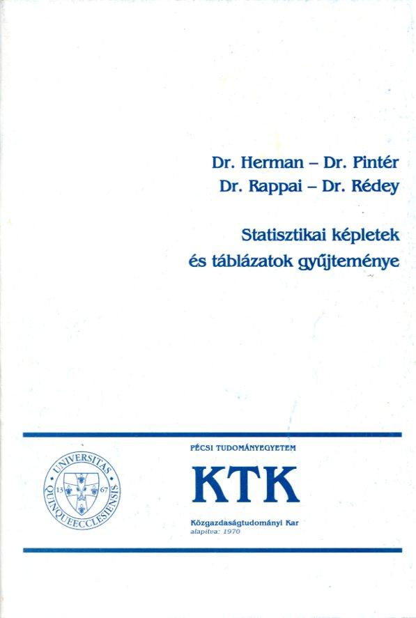 Statisztikai képletgyűjtemény és táblázatok