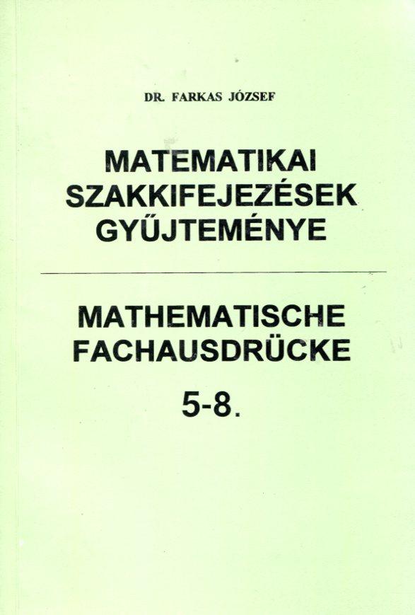 Matematikai szakkifejezések gyűjteménye