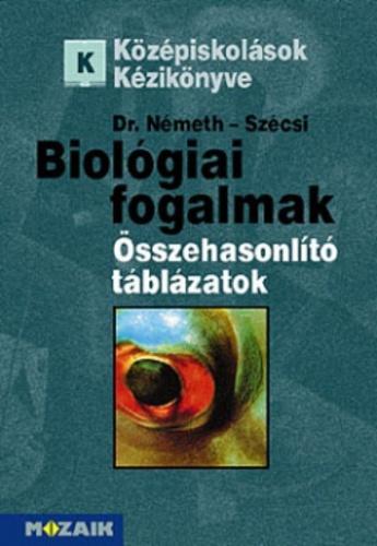 Biológiai fogalmak és összehasonlító táblázatok